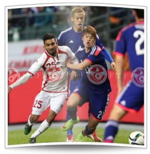 Mohamed Gouaida feiert sein Nationalmannschaftsdebüt für Tunesien im Freundschaftsspiel gegen Japan.