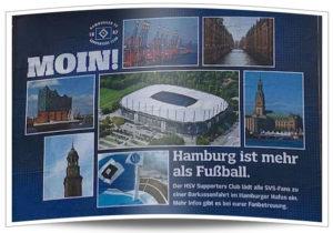 HSV Plakat in Sandhausen: Einladung zur Barkassenfahrt